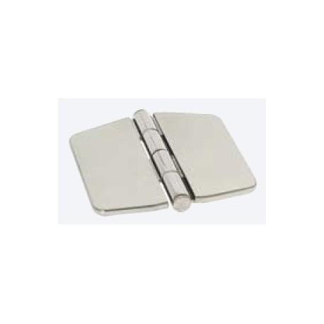 Cerniera con copertura in acciaio 74x75 mm. inox Aisi 316