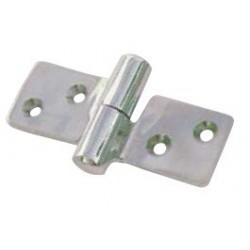 Cerniera sfilabile  per porte e cofani motore in acciaio inox Aisi 304 86x50 mm.