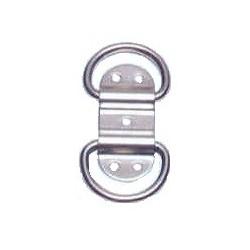 Doppio anello inox Aisi 316 76x32 mm.