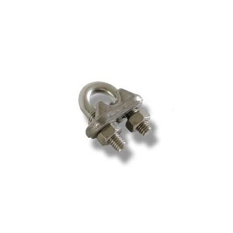 Morsetto a cavallotto per cavo Ø8 mm in acciaio inox Aisi 316