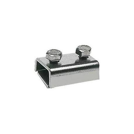 Morsetto bifilare per cavo Ø 2-6 mm in acciaio inox 18/8