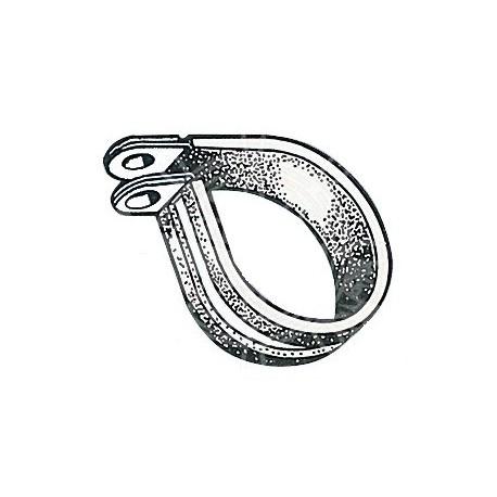 Ponticello fermatubi e fermacavi gommato in acciaio inox Aisi 316