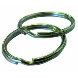 Anello metallico lucido portachiave