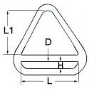 Anello Triangolo mm. 6 x 50 Inox AISI 304