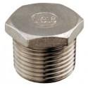 "Tappo maschio 1/4"" acciaio inox AISI 316"