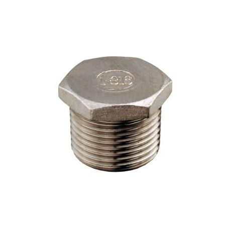 "Tappo maschio 3/8"" acciaio inox AISI 316"