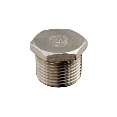"Tappo maschio 1"" acciaio inox AISI 316"