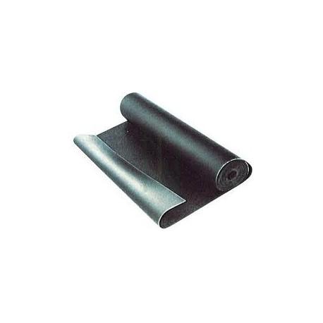 Lastra in gomma telata spessore 1,5 mm.
