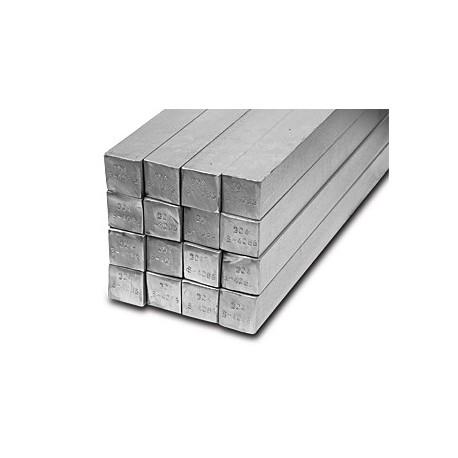 Barra quadra inox AISI 304 15 mm.