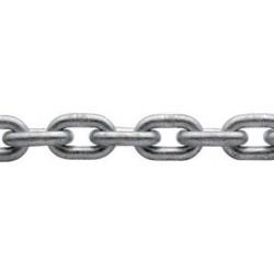 Catena acciaio zincato calibrata per verricelli - Ø 6 mm. 100 mt.