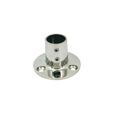 Base tonda dritta 90° Ø mm. 22 inox AISI 316