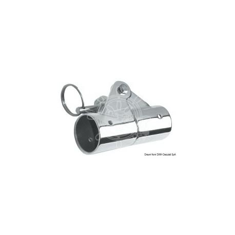 Snodo esterno 90º inox 316 femmina per tubo Ø 30 mm. inox AISI 316