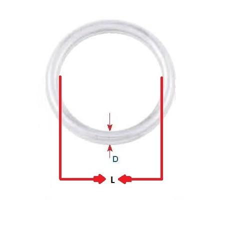 Anello Tondo mm. 4 x 25 Inox AISI 304 conf. 10 pezzi