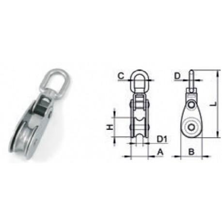 Bozzello AISI 304/A2 per cavo ø 6 mm.