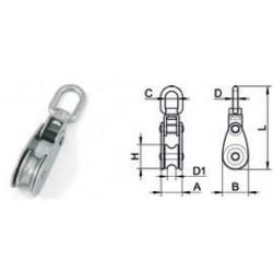 Bozzello AISI 304/A2 per cavo ø 10 mm.