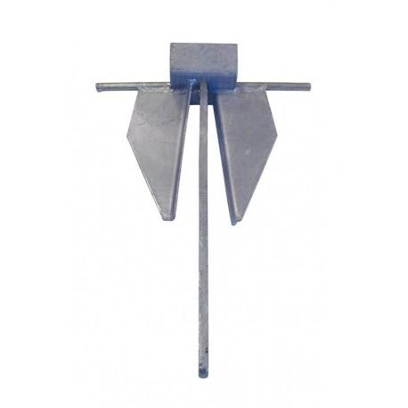 Ancora Danforth acciaio zincato 10 kg