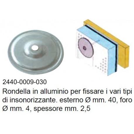 Rondella alluminio fissapannello mm. 40 conf. 10 pz.