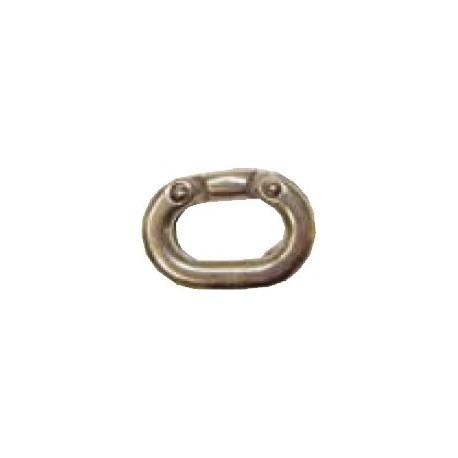 Falsa maglia acciaio inox AISI 316 per catena calibrata Ø 8 mm.