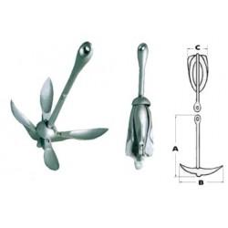 Ancora ad ombrello acciaio zincato 0,7 kg