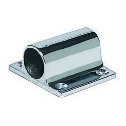 Supporto a parete ottone cromato per tubo Ø 25 mm.