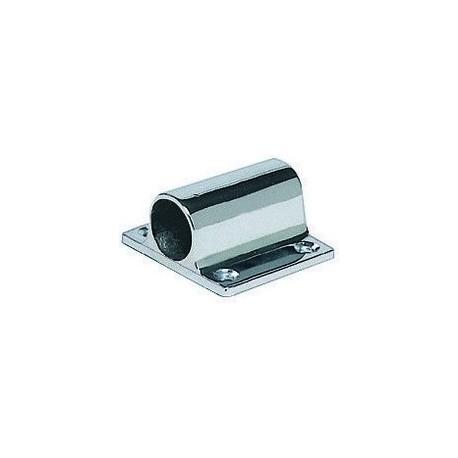 Supporto a parete acciaio inox 316 per tubo Ø 25 mm.