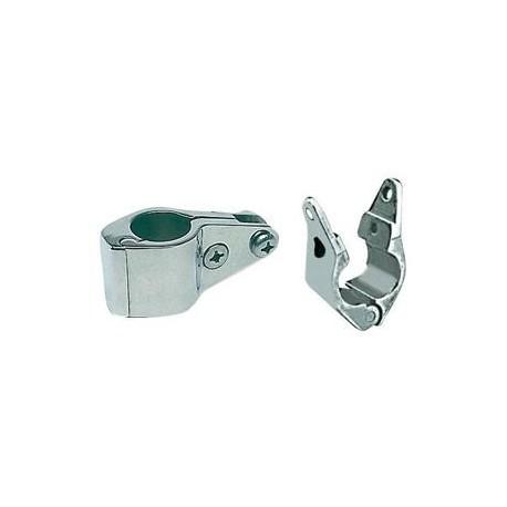 Snodo a forcella apribile inox 316 per tubo Ø 22 mm. inox AISI 316