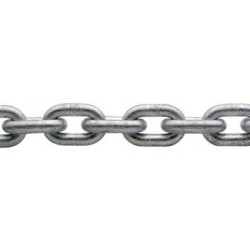 Catena acciaio zincato calibrata per verricello - Ø 6 mm. 50 mt.